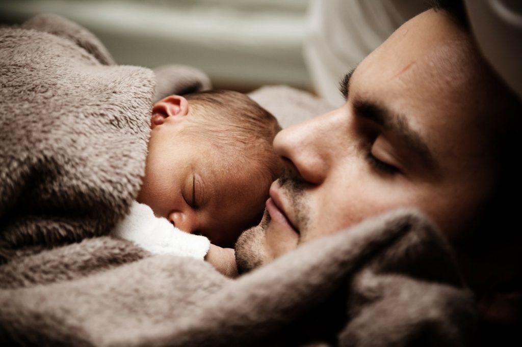 man & baby